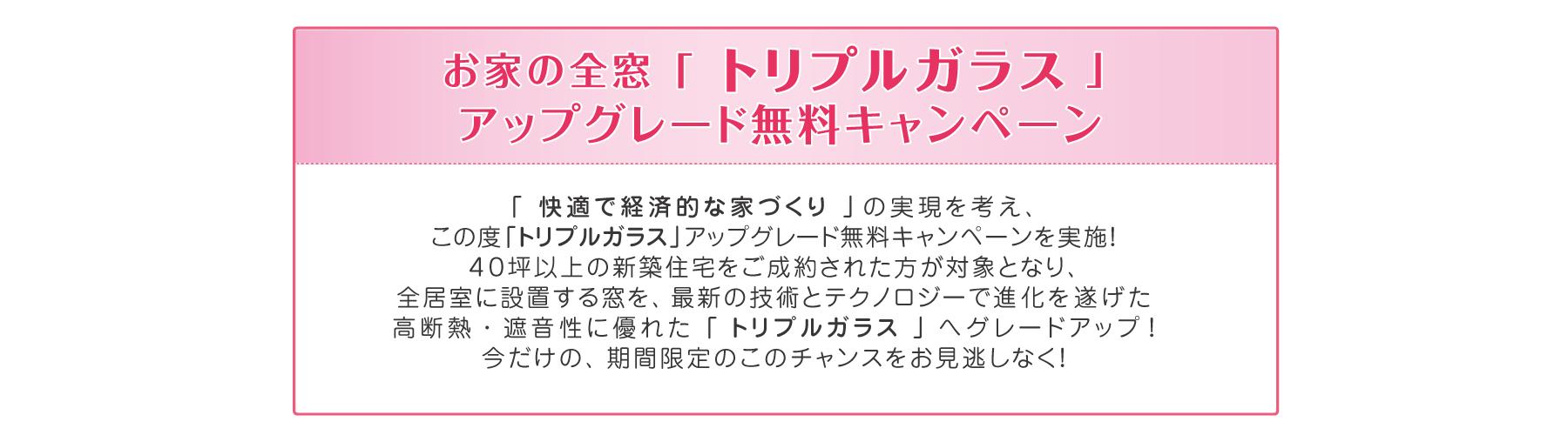 トリプルガラスプレゼント:キャンペーン詳細